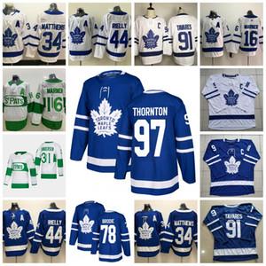 97 Joe Thornton Toronto Maple Leafs Mitch Marner John Tavares Auston Matthews Frederik Andersen Nylander Wayne Simmonds T.J. Brodie Jersey