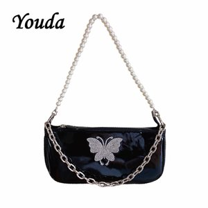 Wholesale red butterfly handbag resale online - Youda Butterfly Design Fashion Women Bags Cool Girls Baguette Bags Female Shopping Handbag Vintage Style Ladies Handbags Tote C1223