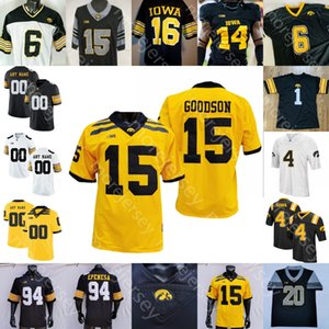 Wholesale iowa hawkeyes jerseys resale online - Custom IOWA Hawkeyes Football Jersey NCAA College Nate Stanley Sargent Smith Marsette Toren Young Goodson Nico Ragaini Smith Tracy Jr Welch