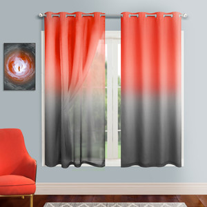 Wholesale room darkening curtains resale online - Mix Match Blackout Curtain Ombre Sheer Curtains Thermal Insulated Room Darkening Drapes for Living Room Bedroom Girls Room Privacy