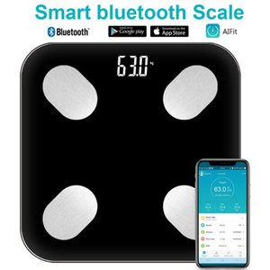 Wholesale bluetooth body fat scale resale online - Bluetooth Body Fat Scale LCD Electronic Scale Types Data Measuring Intelligent Human Body Precision Home Supplies
