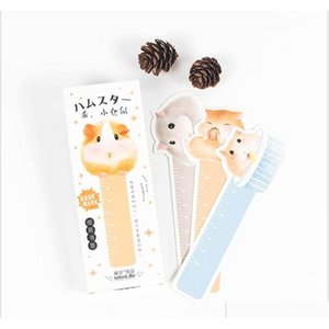 ingrosso piccoli segnalibri-Commercio all ingrosso scatola carino kawaii piccolo criceto bookmarks graffetta clip per libro coreano divertente regalo ufficio ufficio forniture cancelleria