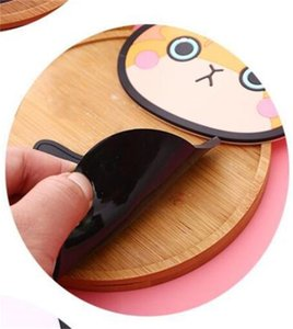 Wholesale women water cup resale online - Coffee Water Cup Mats Silicone Cute Cats Cartoon Insulation Bowl Pads Girl Women Fashion Coaster Hot Sale qc M2