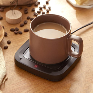 Wholesale electric heated coffee mug for sale - Group buy 220V Smart Coffee Mug Cup Warmer Home Office PTC Electric Heating Pad Water Bottle Thermal Coaster Keep Warm for Milk Tea