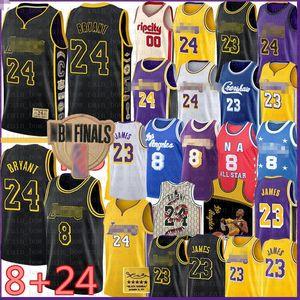 LeBron 23 6 James Basketball Jersey BRYANT Carmelo 8 24 Anthony Los AngelesLakersKobeEarvin Anthony Johnson Kyle Davis Kuzma