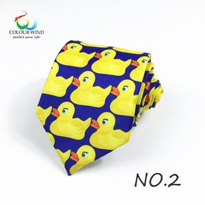 Wholesale rubber neck for sale - Group buy Duck Printed Design Polyester Ducky Tie Printed Professional Necktie How I Met Your Mother TV Show Yellow Rubber Duck Tie Gift1