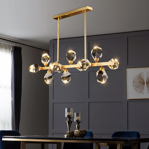 Wholesale kitchen pendent light for sale - Group buy copper Round led chandelier hanging Modern pendent lights ceiling lamps chandeliers light lamp kitchen dining fixture