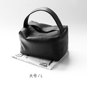 Wholesale ladies lunch bags resale online - Leather pillow bag black ladies handbag large bag hot selling women s lunch box soft leather