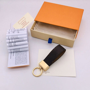 Wholesale money draw for sale - Group buy Fashion Handmade Keychain Men Women Fashion Designer Leather Wallet Car Key Chains Buckle Accessories with Box and Dust Bag