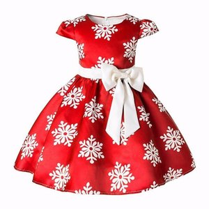ingrosso giochi di ragazza vestiti-Natale Gioco di Natale Snow Princess Girl Birthday Party Dress Y200102
