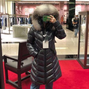 2020 New Winter Fashion Fulmarus Down Women Big Fur Collar Hooded Warm Parkas Long Coat Female Jacket Bomber Jackets