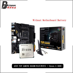 материнская плата asus оптовых-AMD Ryzen R5 CPU ASUS TUF Gaming B550M PLUS Wi Fi Motherboard Suit Socket AM4 Все новые но без прохладных