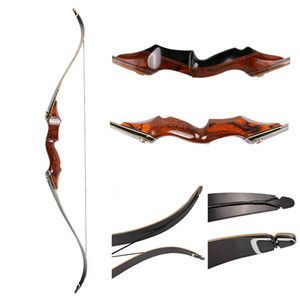 Wholesale bow hunting for sale - Group buy Archery takedown bow hunting bow lbs American wooden archery inch laminated recurve bow with arrow rest