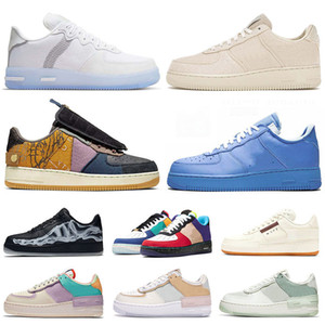 gummi schuhe großhandel-Skate Schuhe force Type n354 n stock x Cactus Jack airforce one white off MCA af1 forces MOMA Skeleton Shadow Herren Damen Laufen im Freien Schuhe Turnschuhe