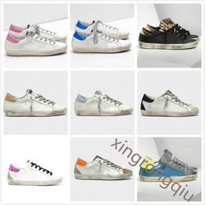 Wholesale golden goose resale online - Italy Deluxe Brand Golden Sneakers Super Star Sequin Classic White Do old Dirty Shoes Goose Designer Man Women Casual Shoes