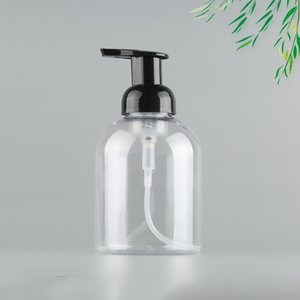 Wholesale garage sale resale online - 500ML hand sanitizer foam bottle transparent plastic Pump Bottle for disinfection liquid cosmetics Hot sale free fast sea shipping DWF2414