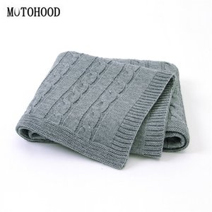 Wholesale bedding for toddlers resale online - MOTOHOOD Baby Blanket Knitted Woolen Newborn Blankets Super Soft Wrap Infant Swaddle Kids Stuff For Monthly Toddler Bedding Y201001