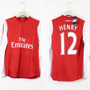 Free shipping 2011 2012 henry wilshere vermaelen ROSICKY ARTETA retro vintage soccer jersey