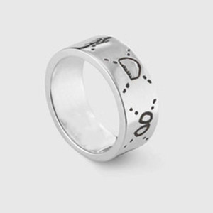 Wholesale silver bars resale online - Hot sale sterling silver skull rings moissanite anelli bague for mens and women Party promise championship jewelry lovers gift
