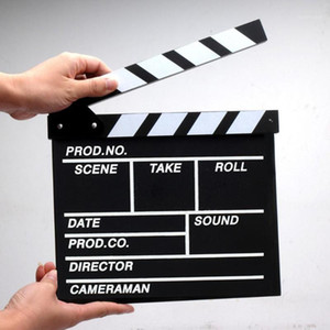 Wholesale wooden clapper resale online - Film TV Show Cut Action Wooden Movie Clapboard Theater Party Decoration Movie Clapper Board Photo Studio Film Making Prop1