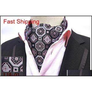 Wholesale ascots ties for sale - Group buy Mens Cravat Ties Vintage Polka Dot Floral Wedding Formal Cravat Ascot Scrunch Self British Style Gentleman Polye qylnmC homes2007