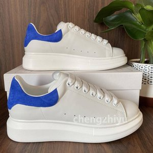 ingrosso mens merletti i pattini casuali-2021 Top Quality Black White Leather Shoes Casual Shoes Lace Up Black Blue Vielet Scarpe da uomo Donna Estremamente durevole Stabilità con Box Dimensione