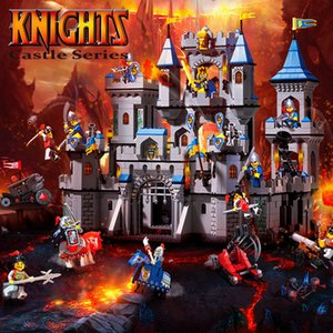 Wholesale toys lion king resale online - Enlighten Q1113 Lion King Castle Military Bricks model Battle Fortress Building Blocks Toys for Children friends Christmas Gifts