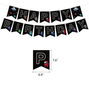 ingrosso toppers torta toppers-1 Set Tra Stati Uniti Lattice Balloon Game Banner Cake Topper Toys Black Birth Birthday Party Decorations Pet Cartoon Giocattoli per bambini adulti HHE4178
