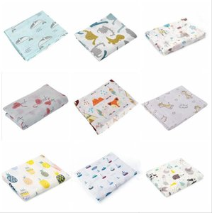 Wholesale cotton gauze baby blanket resale online - Infant Muslin Blanket Horse Infant Gauze Swaddle Baby Bathroom Towels Robes Infant Swadding Muslin Swaddle Cotton Baby Quilt sea GWB4324
