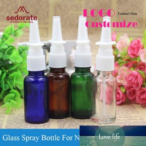 Wholesale blue shampoos resale online - Sedorate ML Glass Bottle for Nose Cosmetic Cream Shampoo Pump Bottles Vial Amber Blue Green Containers YM006