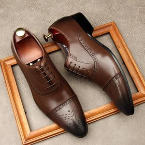 chaussures minimalistes achat en gros de-news_sitemap_homeOxford Hommes Robe Chaussures Business Business à Lace up Full Véritable Cuir Véritable Chaussures minimalistes pour hommes Mode Mariage1