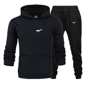 2020 men Tracksuit New Sportswear Sets Winter 3XL Casual clothes large size woman Two Piece Suit Hoodies Sweatshirt+joggers pants