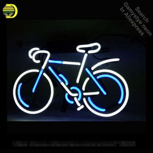 Wholesale metal custom sign resale online - Neon Sign BICYLE Glass Tubes Lamps Neon Bulb Signboard lighted signs custom made neon electronic light with metal frame