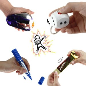 Wholesale shocker toys resale online - 15 Styles Electric Joke Prank Trick Funny Toys Batons Toys Stick Shocking Shocker Electric Anti stress Gadget