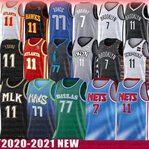 Kevin Kyrie Luka Irving Durant Trae Doncic Young Basketball Jersey Porzingis DallasMavericksBrooklynNetsAtlantaHawk