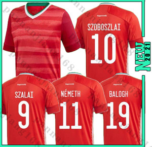 Wholesale red home soccer jersey for sale - Group buy Hungary soccer jersey home red national team Dominik Szoboszlai Willi Orban Tamás Kádár football uniform shirts