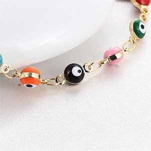 Wholesale foot chain men for sale - Group buy Fashion Retro Ankle Chain Women Men Foot Bracelet Multi Color Eye Thousand Flowers Jewelry Copper Ankles Chains yb G2B