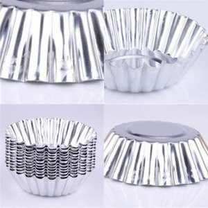 Wholesale cake molds aluminum resale online - Aluminum Material Egg Tart Molds Circular Cake Moulds Thickening Home Kitchen Bakery Baking Mold New Arrival kn L1