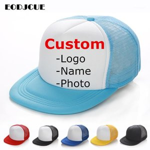 Wholesale custom trucker caps for sale - Group buy Factory price Free Custom Design Men Women Baseball Cap For Kids Adult Mesh Snapback Hip Hop Hat Trucker Hat gorras1