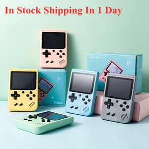 Wholesale cans for sale - Group buy Portable Macaron Handheld Game Console Retro Video Game player Can Store in1 Games Bit Inch Colorful LCD Cradle