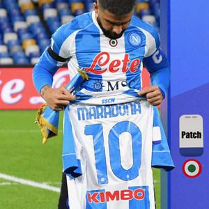 20 21 New Napoli Fourth Tribute to DIEGO Maradona Soccer Jerseys camiseta Argentine-Inspired 2020 2021 Jersey INSIGNE Football Shirts Kit