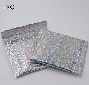 100pcs 15*13cm Small Gold Aluminized Foil Metallic Bubble Mailer Shipping Bubble Padded Envelopes Gold Gift Packaging Bag wmtnAcl