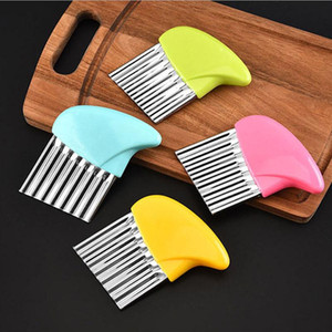 Wholesale kitchen tools for sale - Group buy Wave Onion Potato Slicers Crinkle French Fries Salad Corrugated Strip Cutting Chopped Tools Potato Slicer Kitchen Accessories VTKY2346