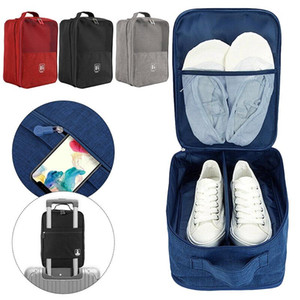 Wholesale waterproof designer shoes resale online - Large Capacity Waterproof Shoe Bag Portable Portable Shoe Box Multifunctional Household Storage Accessories Travel Storage Box