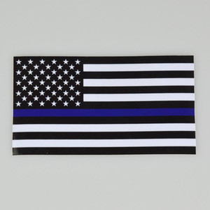 Wholesale blue line stickers for sale - Group buy Blue Lives Matter Police USA American Thin Blue Line Flag Car Decal Sticker USA Country Flag Print Party Stickers Styles