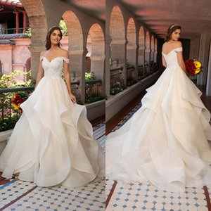 Wholesale modern kitty for sale - Group buy Kitty Chen Wedding Dresses Lace Appliqued Beads A Line Bridal Gowns Off Shoulder Backless Modern Wedding Dress Vestidos De Novia