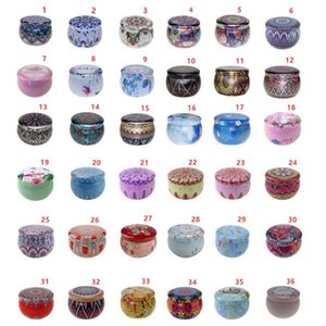 Wholesale tin box design resale online - 66 Designs Tea Case Candle Holder Case Multicolor Candy Box Wedding Ceremony Gifts Storage Tin Box Party Supplies Gift Wrap CCA12621