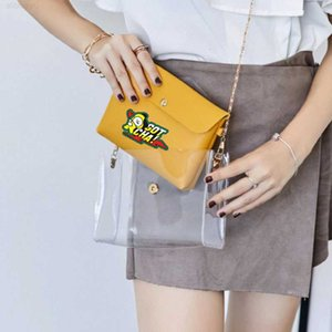 Wholesale bullet bags resale online - BTS Bullet proof Youth League cartoon printing transparent ins small group design women s lovely women PU leather mother bag