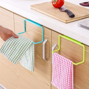 Wholesale plastic towel holder for sale - Group buy Barthroom Towel Holder Cabinet Door Back Towel Holder Multifunctional Plastic Towel Hanging Rack For Bathroom Kitchen WQ617