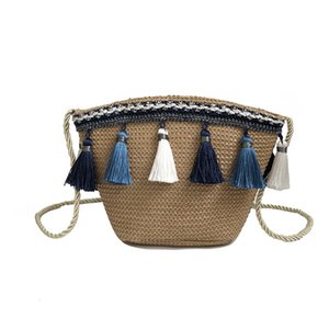Wholesale microfiber beach bags resale online - HBP Non Brand Change Bag Ear Straw Hanging Ethnic Women s Slanting One Beach Rattan Wind Tassel Across Women Shou Hpfql